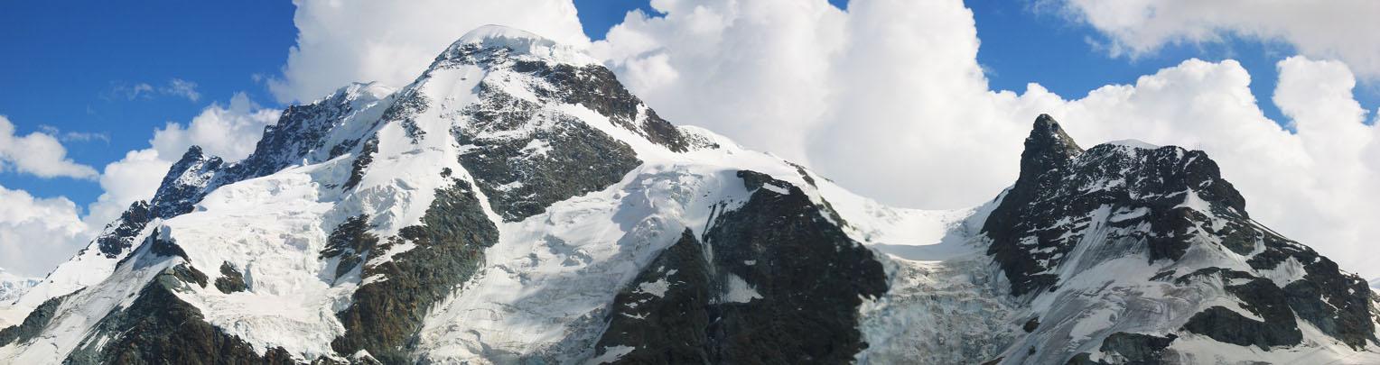 VALAIS ALPS Zermatt Saas-Fee Monte Rosa Val Tournanche Matterhorn 1889 map
